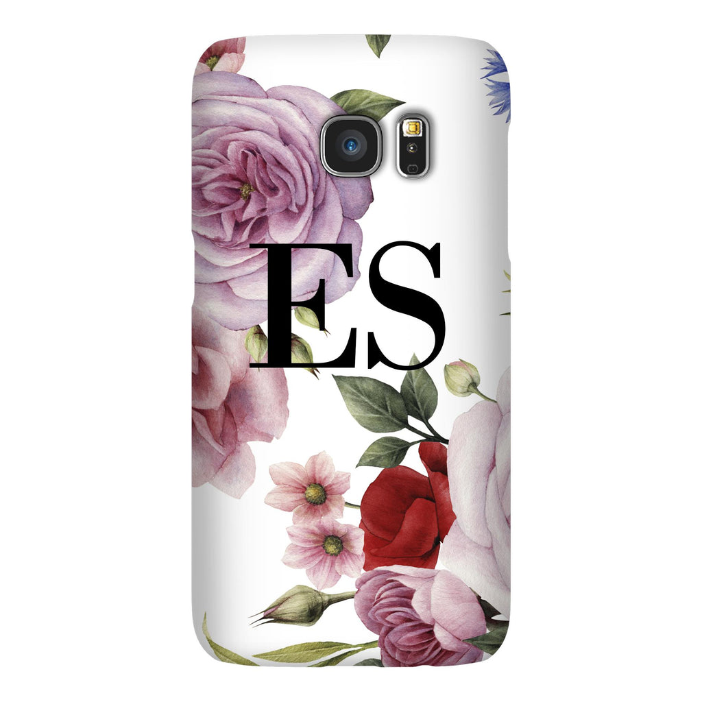 Personalised Floral Blossom Initials Samsung Galaxy S7 Case