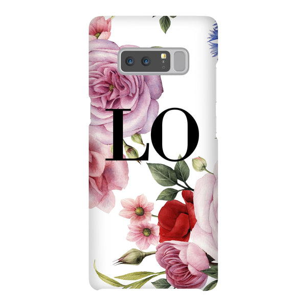 Personalised Floral Blossom Initials Samsung Galaxy Note 8 Case