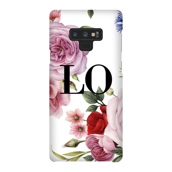 Personalised Floral Blossom Initials Samsung Galaxy Note 9 Case