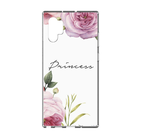 Personalised Floral Blossom Samsung Galaxy Note 10 Plus Clear Case