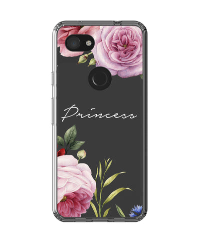 Personalised Clear Floral Blossom Google Pixel 3a Case