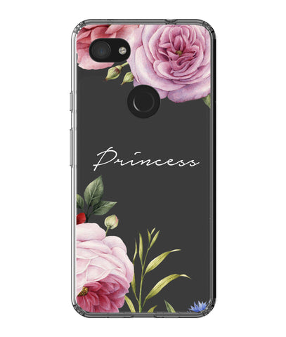 Personalised Clear Floral Blossom Google Pixel 3a XL Case