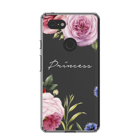 Personalised Clear Floral Blossom Google Pixel 3 Case