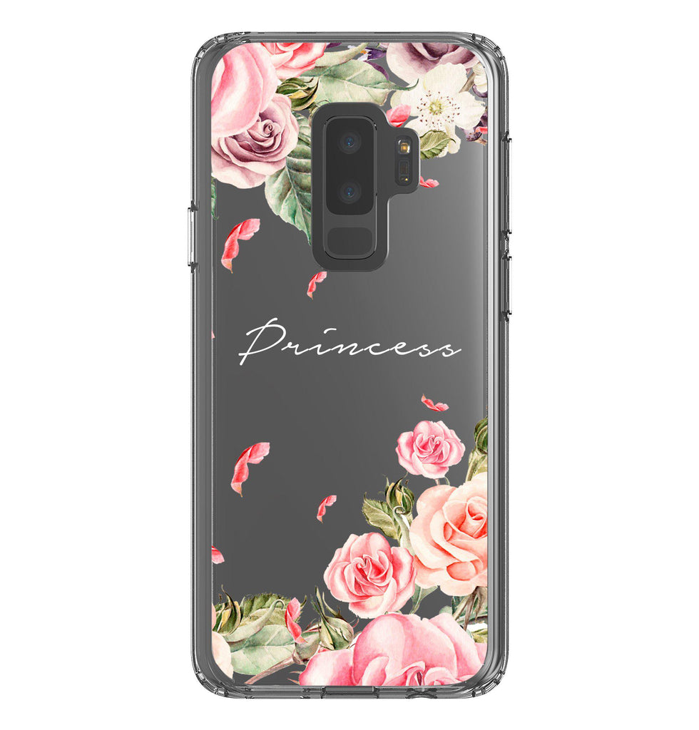 Personalised Watercolor Floral Samsung Galaxy S9 Plus Clear Case