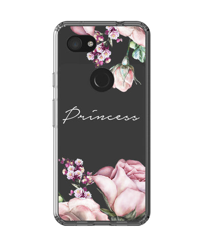 Personalised Clear Rose Google Pixel 3a Case
