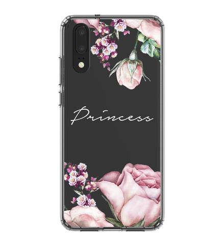 Personalised Clear Rose Huawei P20 Case