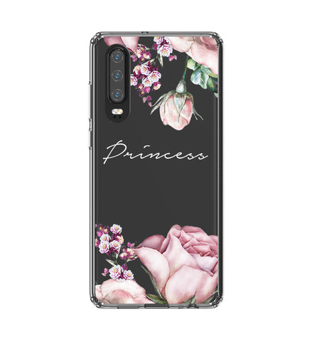 Personalised Clear Rose Huawei P30 Case