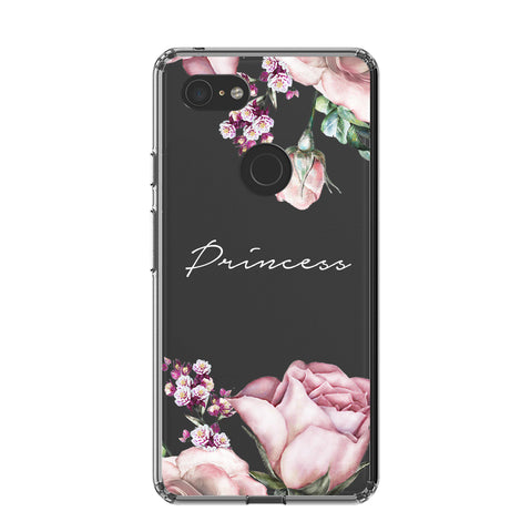 Personalised Clear Rose Google Pixel 3 XL Case