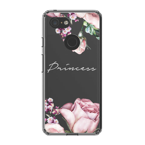 Personalised Clear Rose Google Pixel 3 Case