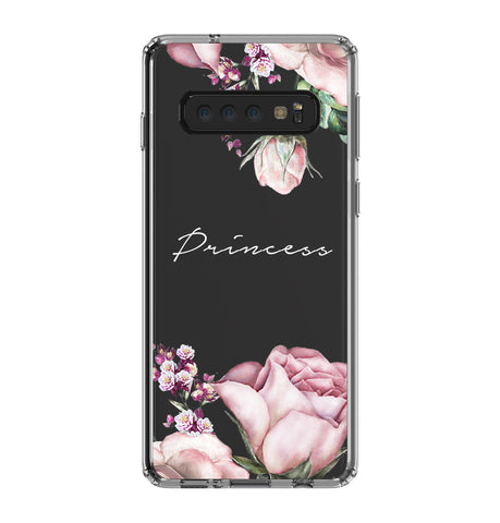 Personalised Rose Samsung Galaxy S10 Clear Case