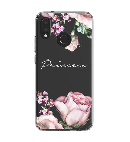 Personalised Clear Rose Huawei P20 Lite Case