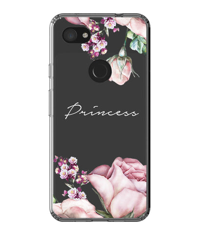Personalised Clear Rose Google Pixel 3a XL Case