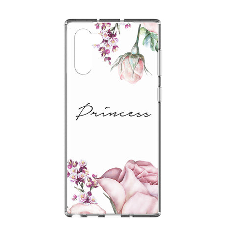 Personalised Rose Samsung Galaxy Note 10 Clear Case