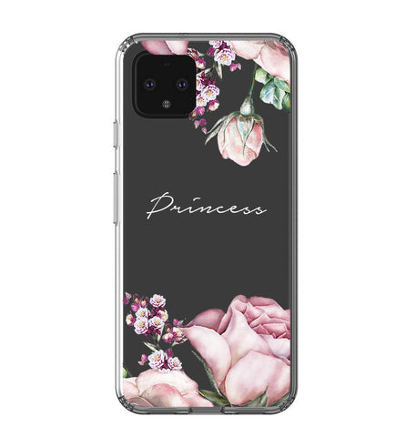 Personalised Clear Rose Google Pixel 4 Case