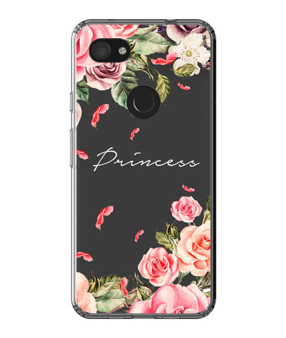 Personalised Clear Watercolor Floral Google Pixel 3a XL Case