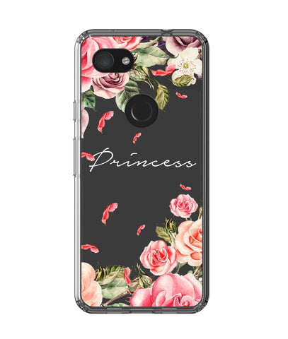 Personalised Clear Watercolor Floral Google Pixel 3a Case