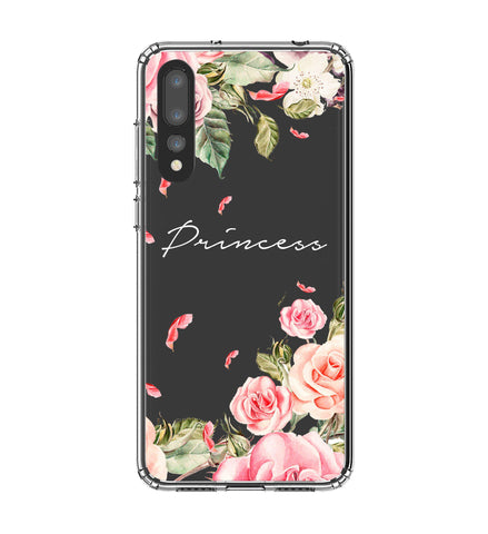 Personalised Clear Watercolor Floral Huawei P20 Pro Case