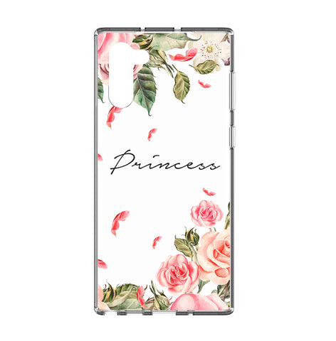 Personalised Watercolor Floral Samsung Galaxy Note 10 Clear Case