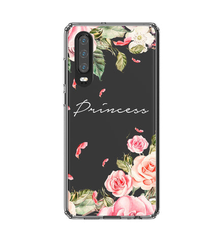 Personalised Clear Watercolor Floral Huawei P30 Case