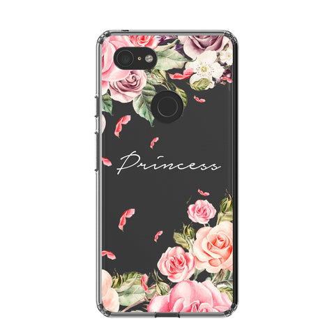 Personalised Clear Watercolor Floral Google Pixel 3 Case