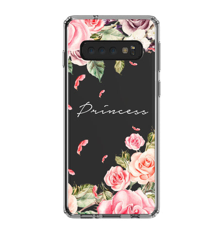 Personalised Watercolor Floral Samsung Galaxy S10 Clear Case