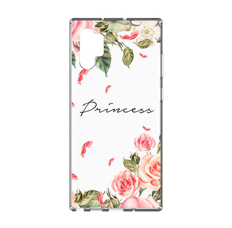 Personalised Watercolor Floral Samsung Galaxy Note 10 Plus Clear Case