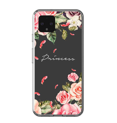 Personalised Clear Watercolor Floral Google Pixel 4XL Case