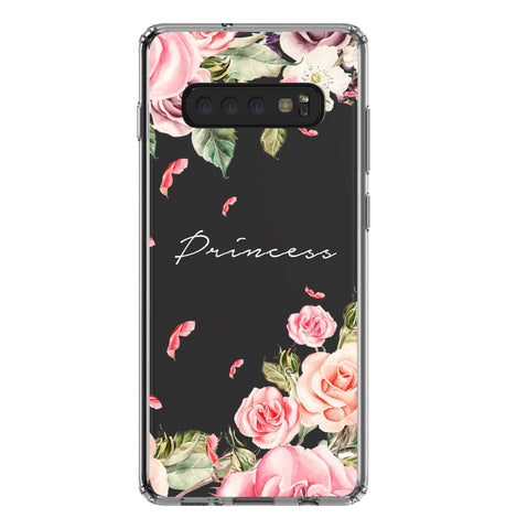 Personalised Watercolor Floral Samsung Galaxy S10 Plus Clear Case