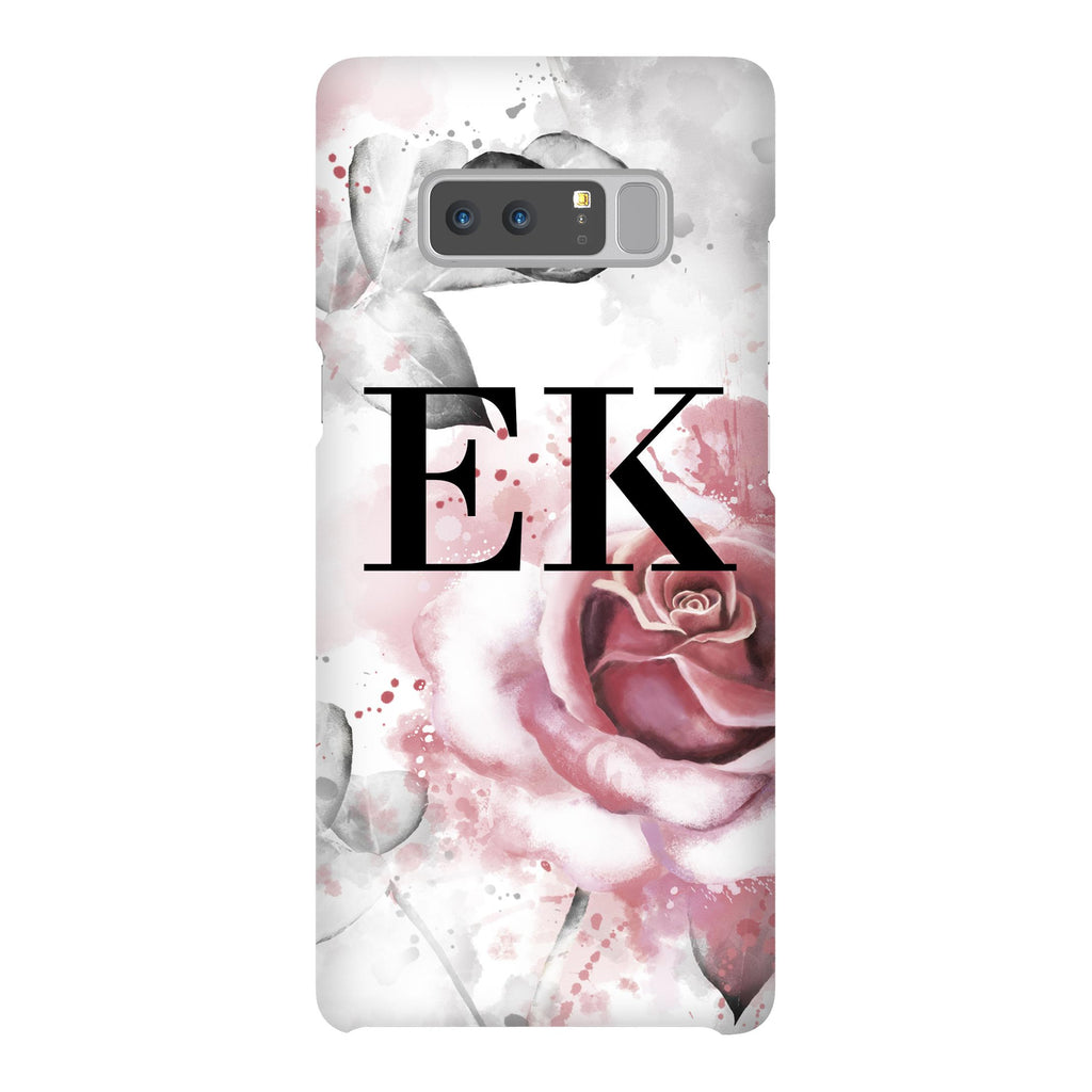 Personalised Floral Rose Initial Samsung Galaxy Note 8 Case