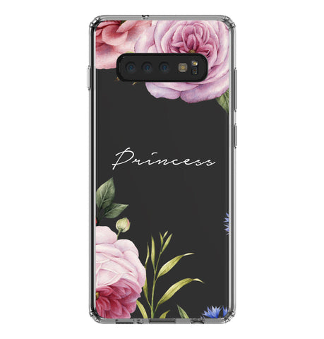 Personalised Floral Blossom Samsung Galaxy S10 Plus Clear Case