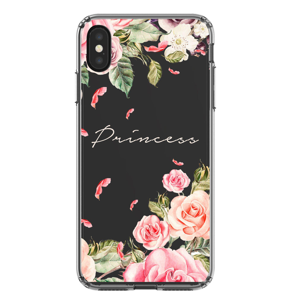 Personalised Watercolor Floral iPhone XS Max Clear Case