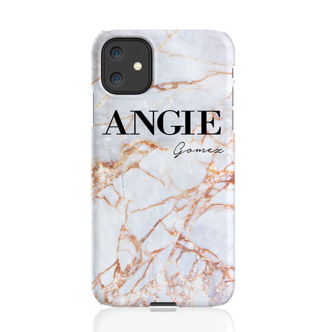 Personalised Fragment Marble Name iPhone 11 Case