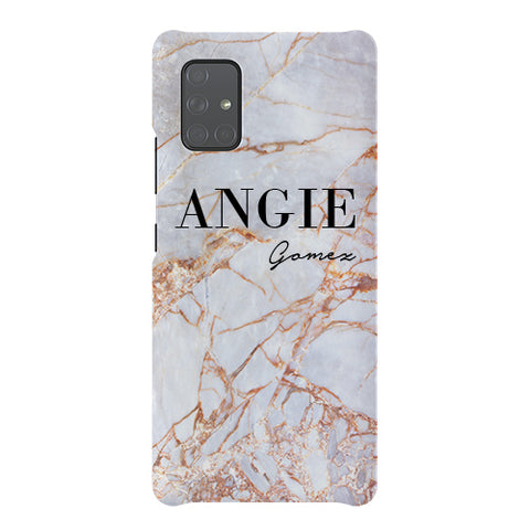 Personalised Fragment Marble Name Samsung Galaxy A51 5G Case