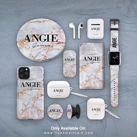 Personalised Fragment Marble Name Phone Case Accessories Package