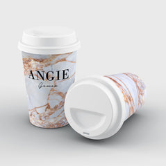 Personalised Fragment Marble Name Reusable Coffee Cup