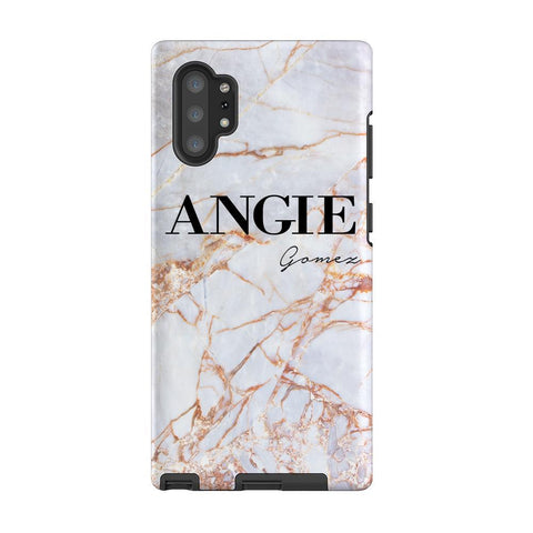 Personalised Fragment Marble Name Samsung Galaxy Note 10+ Case