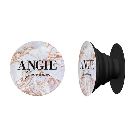Personalised Fragment Marble Name Phone Grip