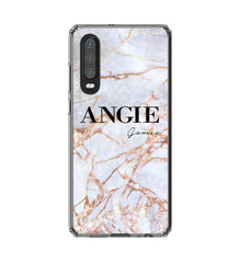 Personalised Fragment Marble Name Huawei P30 Case