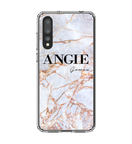 Personalised Fragment Marble Name Huawei P20 Pro Case