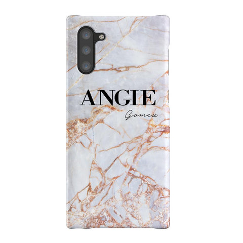 Personalised Fragment Marble Name Samsung Galaxy Note 10 Case