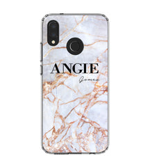 Personalised Fragment Marble Name Huawei P20 Lite Case