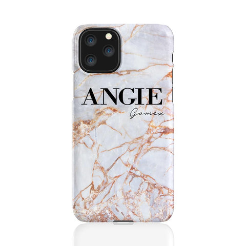 Personalised Fragment Marble Name iPhone 11 Pro Case