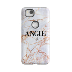 Personalised Fragment Marble Name Google Pixel 2 Case