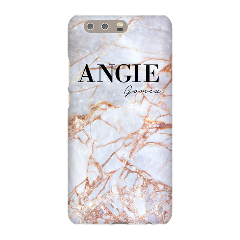 Personalised Fragment Marble Name Huawei P10 Plus Case
