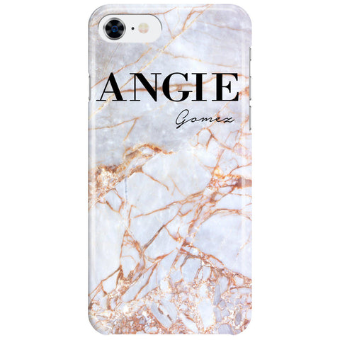 Personalised Fragment Marble Name iPhone SE Case