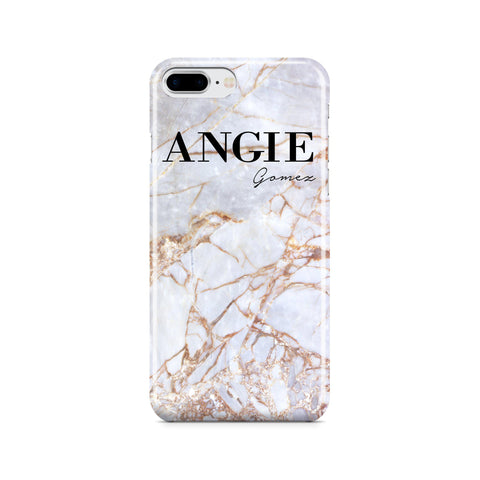 Personalised Fragment Marble Name iPhone 8 Plus Case