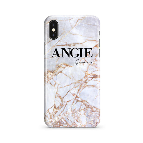 Personalised Fragment Marble Name iPhone XS Max Case