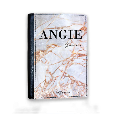 Personalised Fragment Marble Name Passport Cover