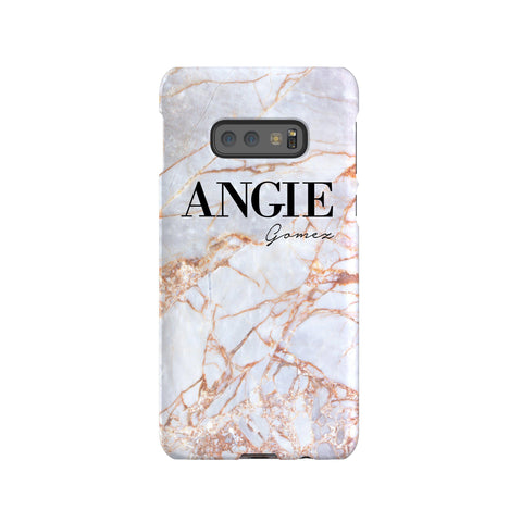 Personalised Fragment Marble Name Samsung Galaxy S10e Case