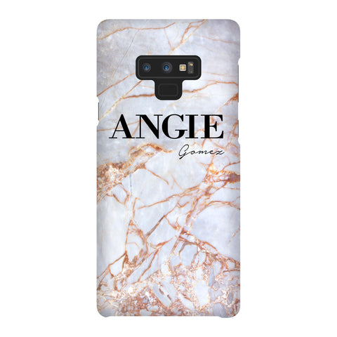 Personalised Fragment Marble Name Samsung Galaxy Note 9 Case